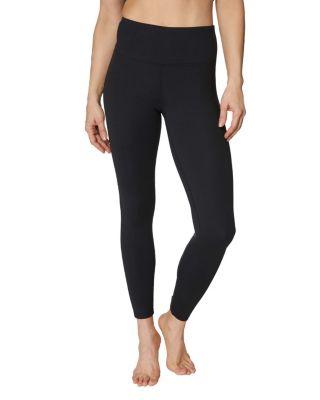 Criss cross back cutout leggings black