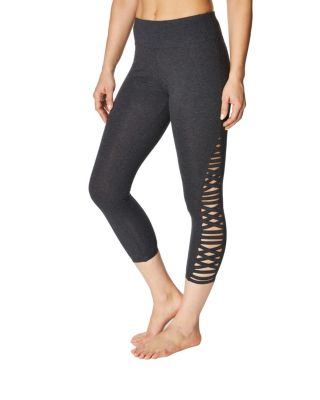 CRISS CROSS STRAP DETAIL LEGGING CHARCOAL