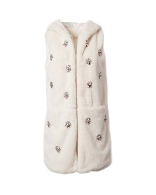 Image of CRYSTAL CLEAR HOODED VEST BLUSH