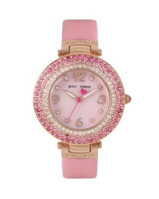 CRYSTAL RINGS PINK WATCH PINK