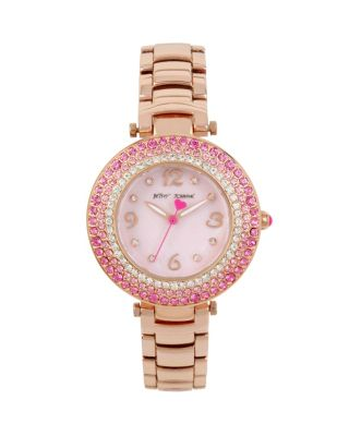 CRYSTAL RINGS ROSE GOLD WATCH ROSE GOLD
