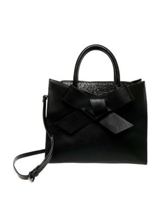 Cutting edge bow satchel black
