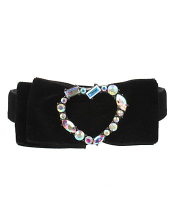 DARKNESS BOW HEART CHOKER