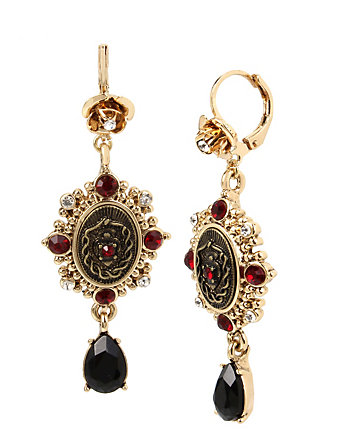 DARKNESS DOUBLE DROP EARRINGS