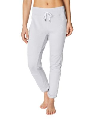 Distressed star embroidery pant grey