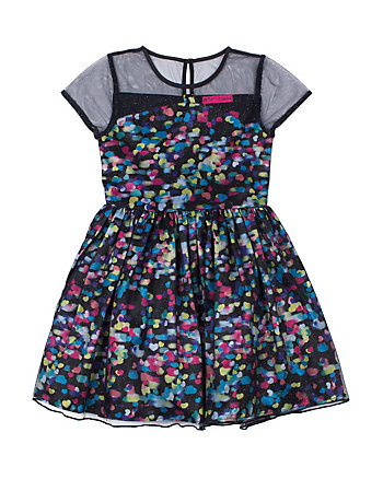 DIZZY DOTS TODDLER DRESS