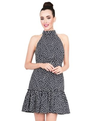 DOTS FOR DAYS DRESS NAVY