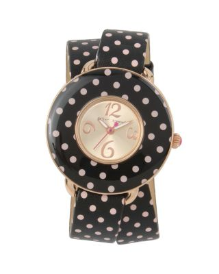 DOUBLE TROUBLE DOTTED WATCH BLACK/PINK