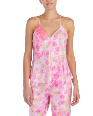 DREAMY ROSES WASHED SATIN CAMI ROSE