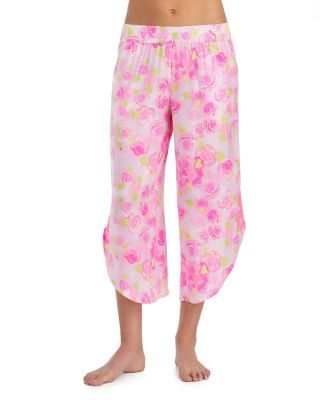 DREAMY ROSES WASHED SATIN PANT ROSE