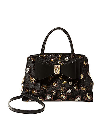 EVENING PROWL SEQUIN TWO-FER SATCHEL
