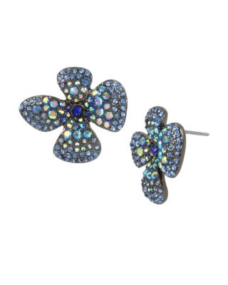 FAIRYTALE DREAMS BLUE FLOWER STUDS BLUE