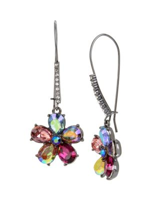 FAIRYTALE DREAMS FLOWER HOOK EARRINGS MULTI
