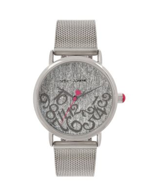 FALLING FOR MESH SILVER WATCH SILVER