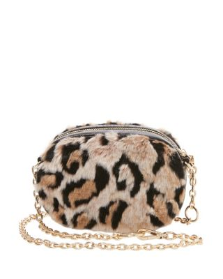 FAUX FUH BELT BAG CROSSBODY LEOPARD