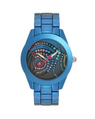 FEATHER SWIRL WATCH BLUE