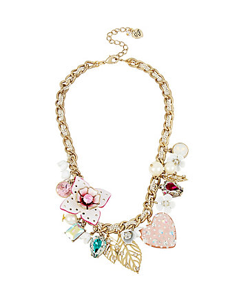 FLAT OUT FLORAL CHARM NECKLACE