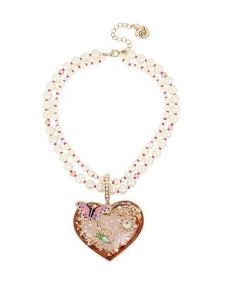 FLAT OUT FLORAL HEART PENDANT MULTI