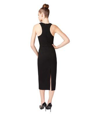FLORAL DIMENSIONS DRESS BLACK