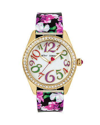 FLORAL SILICONE STRAP WATCH