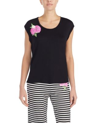 FLOWER POWER TEE BLACK