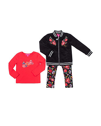 FLOWER POWER TODDLER 3 PIECE JACKET SET