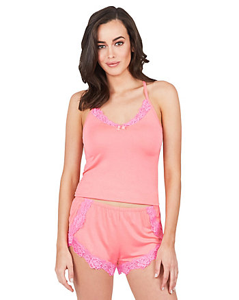 FLY GIRL LACE TRIM SHORT SET