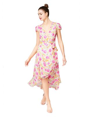 For the frill of it wrap dress multi