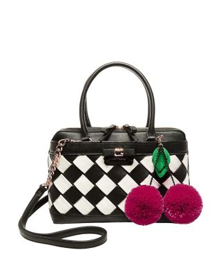 FORBIDDEN FRUIT SATCHEL BLACK/WHITE