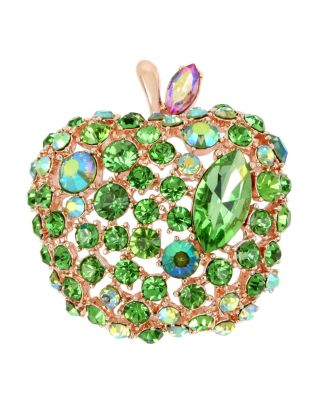 Image of FRUITY PETALS APPLE PIN GREEN