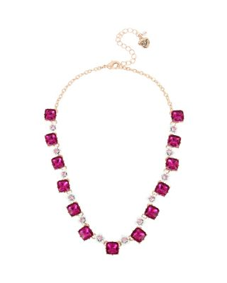 Image of FRUITY PETALS FLOWER COLLAR NECKLACE PINK