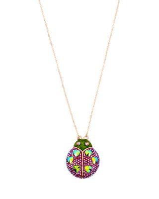 Fruity petals ladybug pendant pink