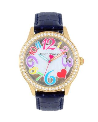 FUN TIME CLEAR FACE NAVY WATCH NAVY