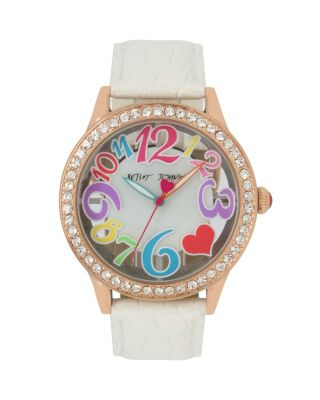 FUN TIME CLEAR FACE WHITE WATCH WHITE