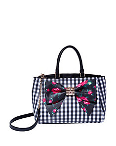 GINGHAM STYLE BOW SATCHEL