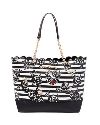 GLAM GARDEN TOTE BLACK/WHITE