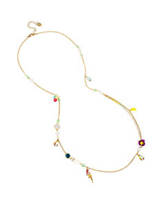GRANNY CHIC BEADED STATION NECKLACE