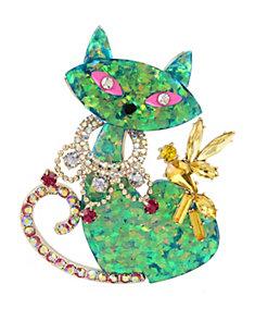 GRANNY CHIC CAT PIN