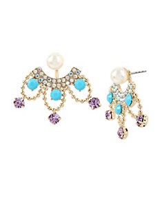 GRANNY CHIC FRONT BACK EARRINGS