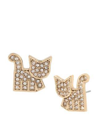 Harlem Shuffle Cat Earrings Crystal