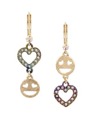 HARLEM SHUFFLE EMOJI EARRINGS CRYSTAL