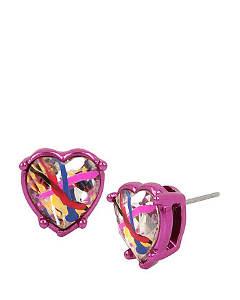 HARLEM SHUFFLE HEART STUD EARRINGS