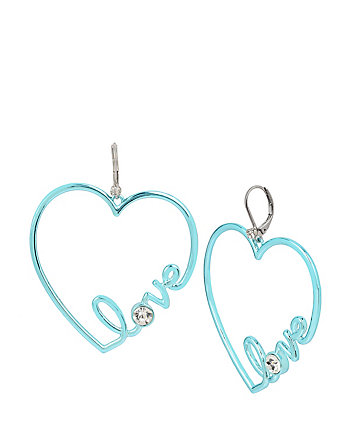 HARLEM SHUFFLE LOVE BLUE EARRINGS