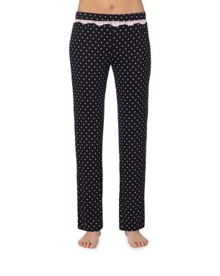 Image of HEART AND SOUL RAYON KNIT PANT BLACK/PINK