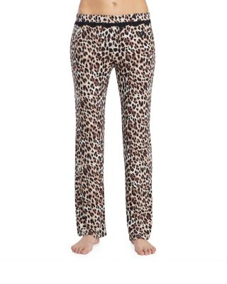 HEART AND SOUL RAYON KNIT PANT LEOPARD