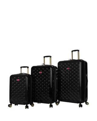 Image of HEART TO HEART BLACK SPINNER 3 PIECE SET BLACK