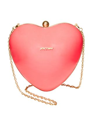 HEARTS DONT LIE CLUTCH PINK