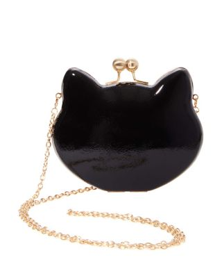 Image of HERE KITTY KITTY HARD FRAME CROSSBODY BLACK