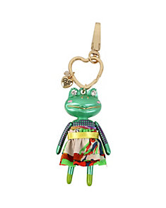 HOLIDAY GIVING FROG KEYCHAIN