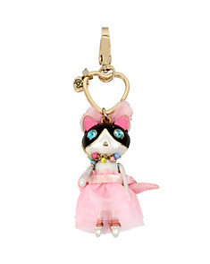 HOLIDAY GIVING PINK KITTY KEYCHAIN
